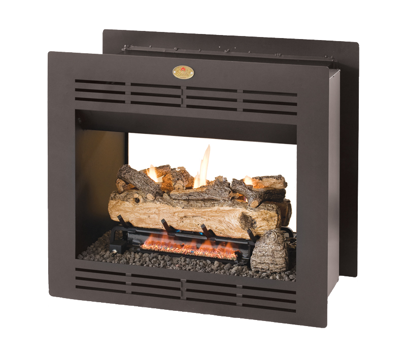 Double Sided Built-in Vent free fireplace